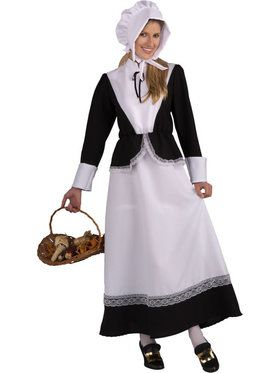Womens Adult Pilgrim Lady Costume