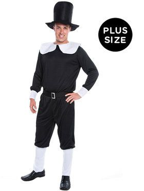 Pilgrim Man Adult Plus Costume