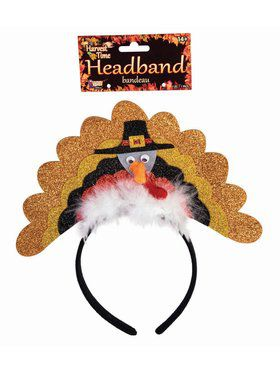 Pilgrim Turkey Headband With Marabou