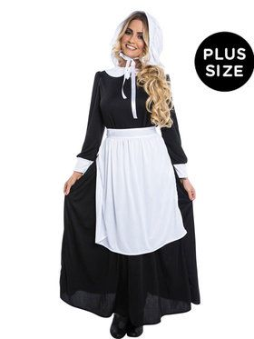 Plus Size Pilgrim Woman Costume For Adults