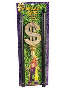 Pimp Cane With Dollar Sign Accessor