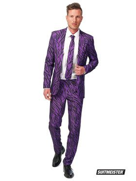 Suitmeister Pimp Tiger Suit and Tie Set for Men