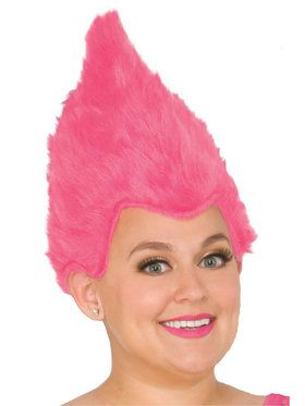 Pink Adult Fuzzy Wig