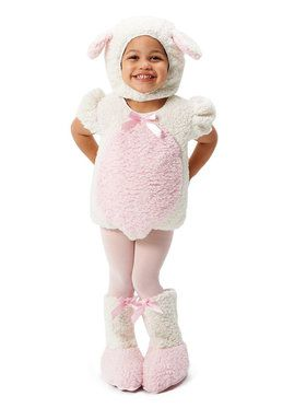 Pink and White Lamb Costume For Toddlers