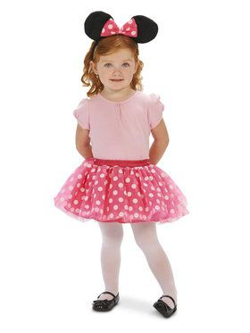 Pink and White Mouse Child Costume with for Halloween