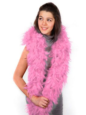Womens Pink Feather Boa