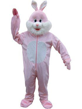 Pink Bunny Adult's Mascot Costume