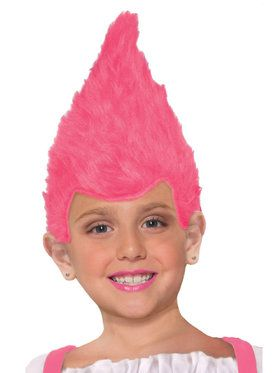 Child Pink Fuzzy Wig