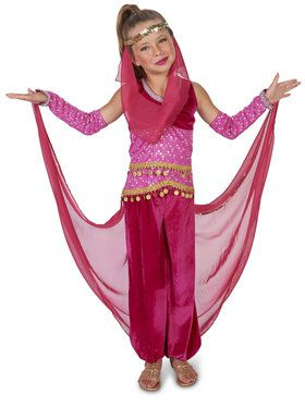 Pink Genie Costume For Children