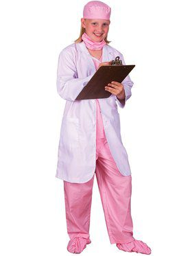 Pink Jr. Physician Girl's Costume