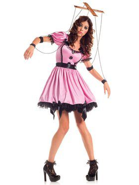 Pink Marionette Adult Costume