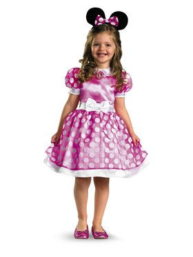 Toddlers Minnie Mouse Classic Costume (Pink)