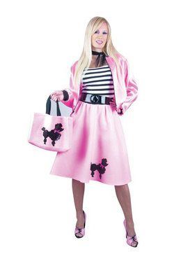 Pink Poodle Dress Adult Plus Costume