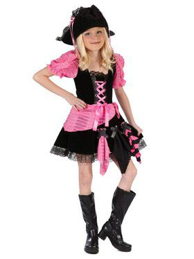 Pink Punk Pirate Child Costume