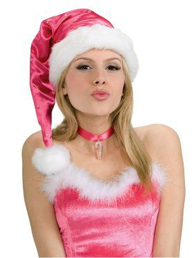 Pink Santa Hat for Adults