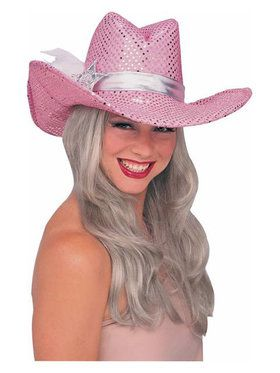 Pink Sequin Cowgirl Hat Adult