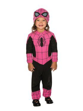 Girl's Pink Spidergirl Costume