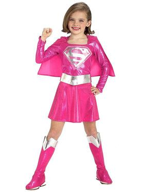 Pink Supergirl Costume For Toddlers