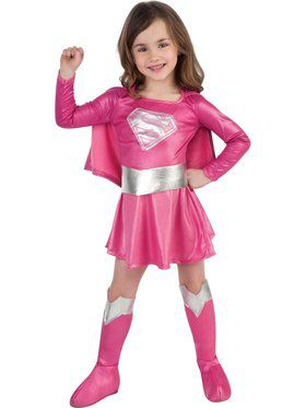 Pink Supergirl Toddler Costume