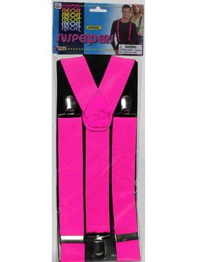 Adult Pink Suspenders Accessory