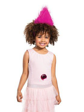 Pink Trolls Headband With Gem
