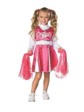 Pink/white Cheerleader Kids Costume