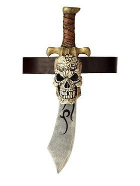 Pirate Belt with Sword and Skull Sheath