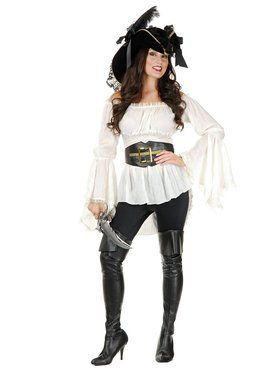 Pirate Lady Vixen Blouse Womens Costume