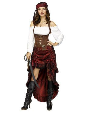 Adult Pirate Queen Costume For Adults  sc 1 st  Wholesale Halloween Costumes & Pirate Halloween Costumes at Amazing Wholesale Prices for Adults u0026 Kids