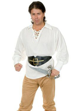 Adult's Gauze Pirate Shirt