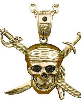 Pirate Skull and Swords Necklace
