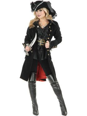 Pirate Vixen Coat For Adults