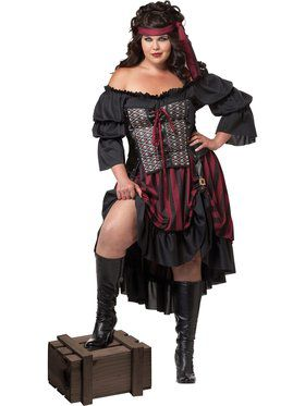 Pirate Wench Women's Plus Size Costume