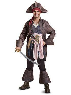 Pirates of the Caribbean 5 Captain Jack Deluxe Adult Costume  sc 1 st  Wholesale Halloween Costumes & Mens Big u0026 Tall Halloween Costumes at Low Wholesale Prices