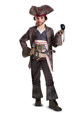 M 7-8 Captain Hook Costume Deluxe Boys Disney Child Pirate Toddler 3T-4T S 4-6
