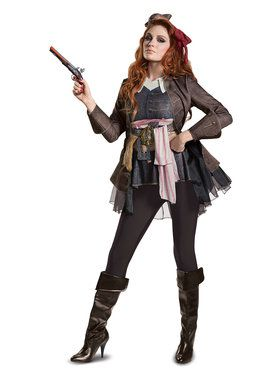 pirates of the caribbean 5 captain jack female deluxe adult costume - Pirate Halloween Costumes Women