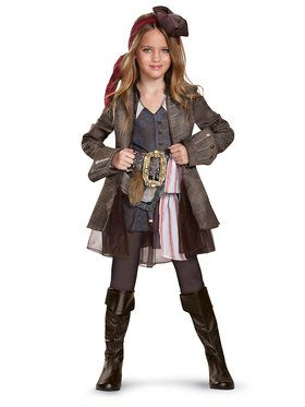 Pirates of the Caribbean 5: Captain Jack Girl Deluxe Child Costume