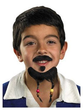 Pirates of the Caribbean Goatee and Moustache Set