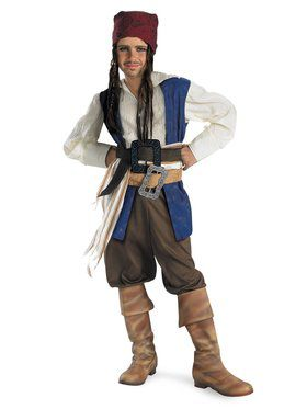 Pirates of the Caribbean Jack Sparrow Costume for Boys