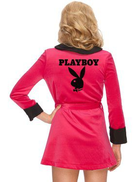 Playboy Pink Sexy Girlfriend Ladies Smoking Jacket Adult Costume
