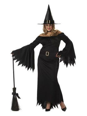 Plus Elegant Witch Adult Women's Costume