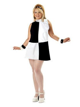 Plus Go Go Girl Geo Costume