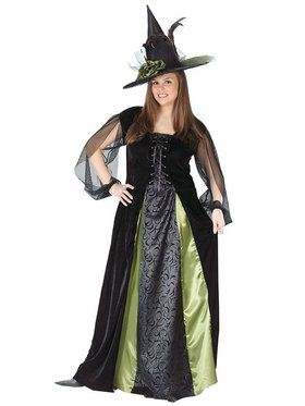 Plus Goth Maiden Witch Womens Costume