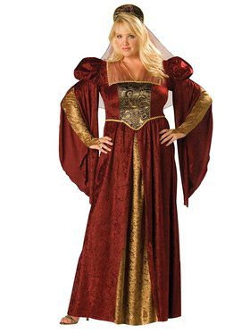 Plus Renaissance Maiden Womens Costume