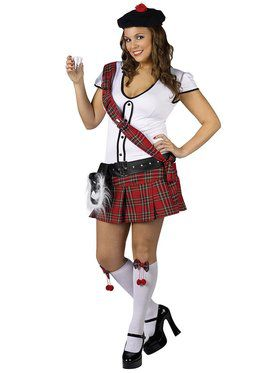 Plus Sexy Scottie Hottie Womens Costume