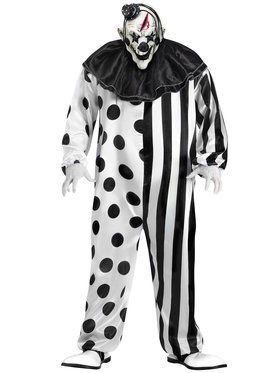 plus size bleeding killer clown adult plus size costume