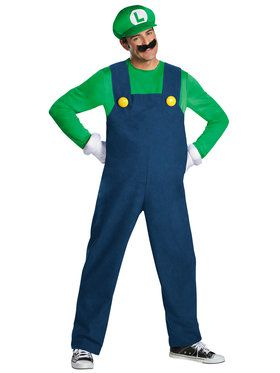 Plus Size Deluxe Luigi Men's Costume