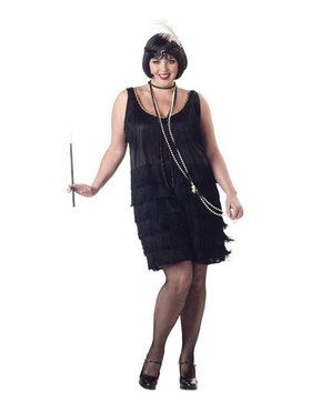 Plus Size Fashion Flapper Adult Women's Costume