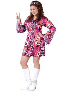 Plus Size Feelin Groovy Womens Costume