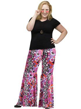 Plus Size Flower Child Bell Bottoms Adult Plus Size Costume